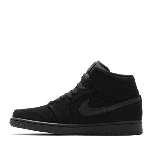 Nike Men's Air Jordan 1 Retro Mid Basketball Shoe Black/White-Black (12 D(M))