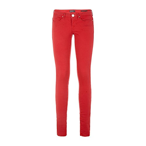 Rojo Puree Tulip Curve Guess Jeans Mujer wqzp4p
