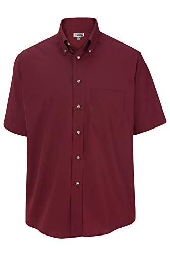 - Edwards Men's Easy Care Short Sleeve POPLIN Shirt X-Large Wine