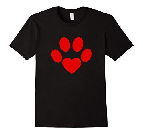 Valentine Paw Heart Shirt Valentines Day Gift Dog Lover Mom