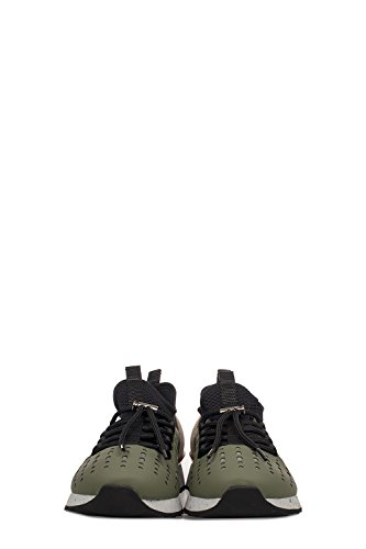Hogan Mannen Hxm2610ad20iqr0807 Groene Lederen Sneakers