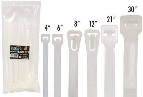 30 Growers Edge Releasable//Reusable Cable Ties 25//Pack