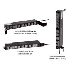 20 Outlet Single 15A Multi-Mount Rackmount Power Strip-by-Mid-Atlantic