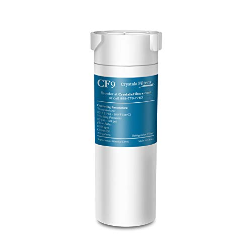 Crystala Filters Compatible with GE XWF Water Filter, Replacement for GE SmartWater Refrigerator Water Filter, (1 PACK)