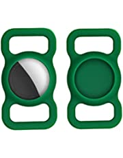 2 Pack Silicone Protective Case for Apple Airtag GPS Finder Dog Cat Collar Loop Protective AirTags Case Air Tag Holder Compatible with Air Tag for Pets