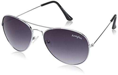 Funky Fish UV Protected Aviator Unisex Sunglasses – (K-71_E_7297473208344 55 Black lens)