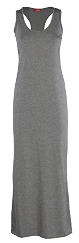 maniche Vestito Senza Donna BLISSRETAIL Basic Grey pxqtdtYw