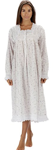 (The 1 for U Henrietta 100% Cotton Victorian Nightgown with Pockets 7 Sizes (Small, Lilac Rose))