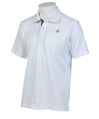 追う探検サービス(マンシングウエアー) Munsingwear メンズ 半袖ポロシャツ JWMJ230 サンスクリーンゴルフウェア M ホワイト
