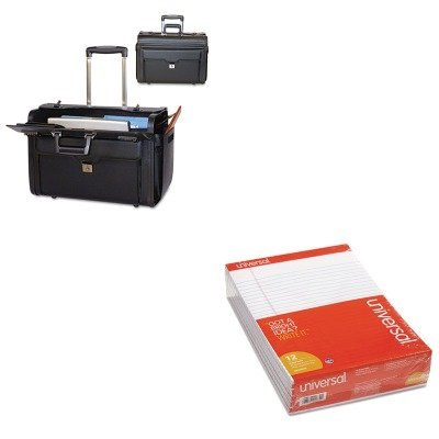 KITBND456110BLKUNV20630 - Value Kit - Bond Street Ltd. Rolling Computer/Catalog Case (BND456110BLK) and Universal Perforated Edge Writing Pad (UNV20630) by Bond Street