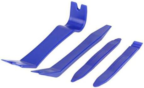 カーオーディオ分解ツール4個セットセントラルコントロールドア内部の取り外し4個セットCD分解ツール4個セット-ブルー