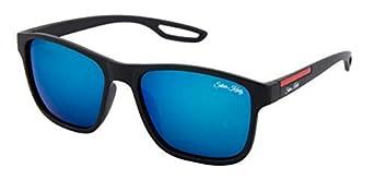 Silver Kartz Mercury Rubber Temple Unisex Wayfarer Sunglasses (Wy-219|55|Blue)