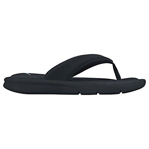 NIKE Women's Ultra Comfort Thong Athletic Sandal, Black/White Black, 8 B US