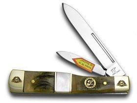 Frost FAMILY 40th Anniversary Ram Horn Mother Of Pearl 1/600 Gunstock Pocket Knife Knives