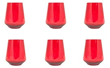 Prime Versand Design Trinkglas Weinglas Wasserglas 6er Set Gläser Für Rotwein Weißwein Wasser Saft Cocktails Tischlicht Windlicht