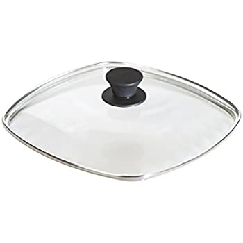 Lodge Square Tempered Glass Lid (10.5 Inch) – Fits Lodge 10.5 Inch Square Cast Iron Skillets and Grill Pans