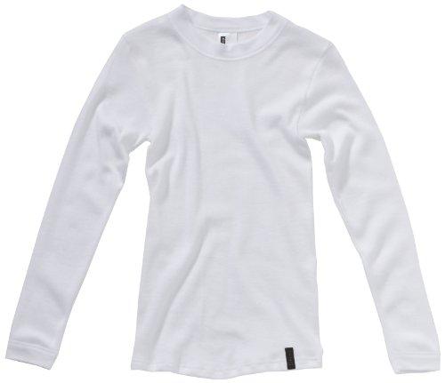 Skiny Jungen Shirt/ Langarmshirt SKINY Boys Basic / 1084 Boys Shirt lg.A., Gr. 140, Weiß (0500 WHITE)