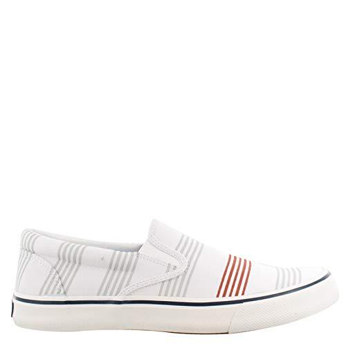 (Sperry Top-Sider Striper II Slip On Oxford Shirt Sneaker Men 11 Stripe)