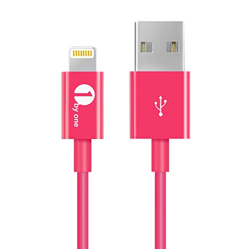 [Apple MFI Certified] 1byone Lightning to USB Cable 3.3 Feet (1 Meter) for iPhone 7 7 Plus 6s 6 Plus 5s 5c 5, iPad mini, iPad Air, iPad Pro, iPod touch 6th Gen/nano 7th Gen, Pink