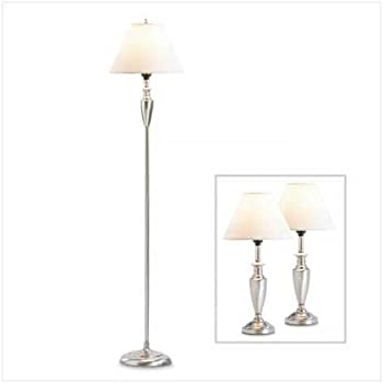 Contemporary Floor And Table Lamp Set