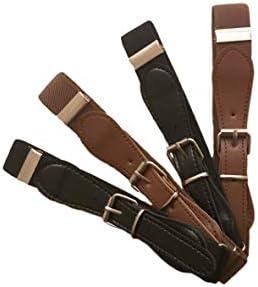 Buha Kids Adjustable Elastic Belts for ToddlerAssorted Colors Pack of 4 Stretch Belts for Boys and Girls. (2 Brown 2 Black)