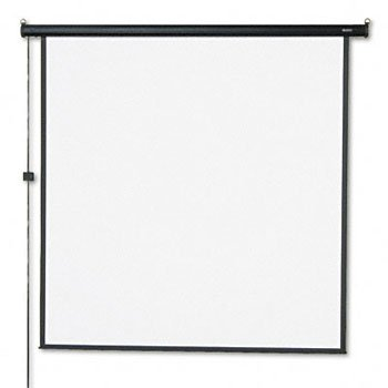 QUARTET Electric Wall or Ceiling Mount Projection Screen, 70 x 70, Three-Position Switch (Case of 2) by Quartet
