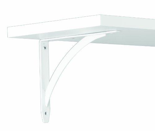 7wt Rods - Knape & Vogt John Sterling Elegante Style Decorative Shelf Bracket, 7-inch, Warm White, RP-0053-7WT