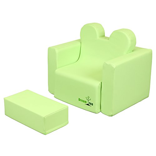 Dream Tree Toddler Table and Chair Set (Sofa Type) Washable, Safe Non-Toxic CPSIA Compliant Soft Foam Furniture for Baby, Kids, and Child - Green