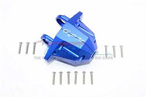 G.P.M. Traxxas Unlimited Desert Racer 4X4 ( 85076-4) Tuning Teile Aluminium Rear Axle Case Carrier - 1 Set Blau