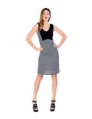 Zergatik Vestido Black Mujer Lines Mundu rqTwrP7