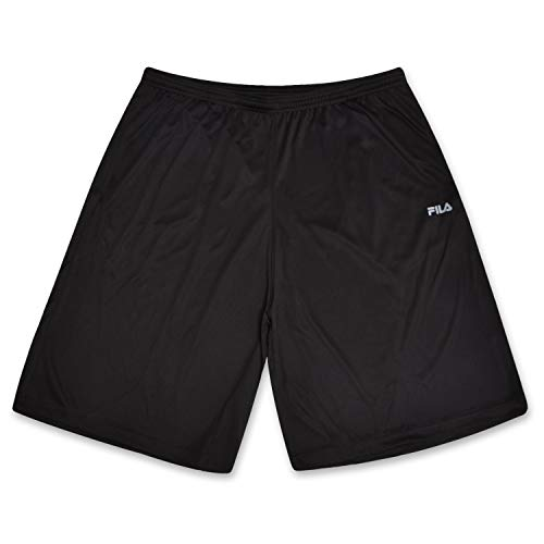 - Fila Mens Big and Tall Active Workout Gym Shorts Black 3X
