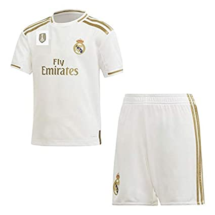 100% authentic 86d9a 3f2c3 GOLDEN FASHION Non Real Madrid Home KIT 2019-20 Jersey with Short Unisex