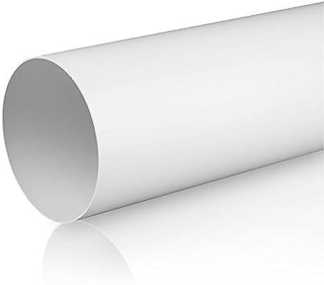 /Ø 100, L/üftungsrohr 0,5m Rundrohrsystem PVC L/üftungsrohr Flexschaluch Bindeglieder Bogen Kniest/ück Verbinder R/ückstauklappe T-St/ück Reduktion Halter Adapter