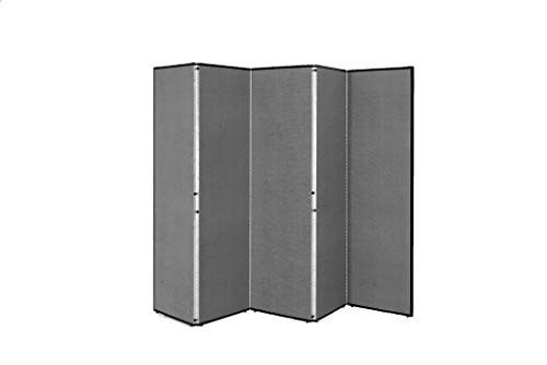 Norwood Commercial Furniture Assembled Freestanding Portable Partitions - 5 Panels (6' H x 9' 5