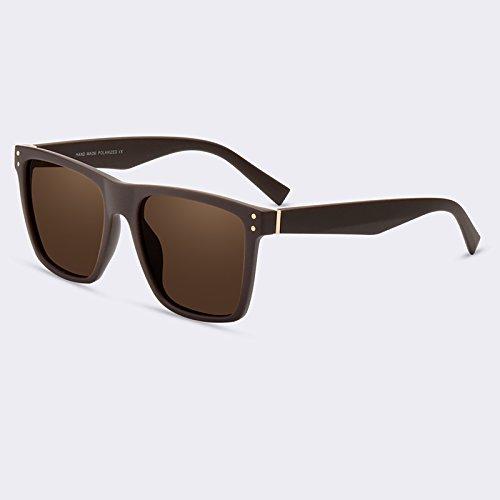 TIANLIANG04 C03Espejo masculina de C02Brown hombres moda de lentes gafas gafas sol Vintage polarizadas Gafas 77qrpH