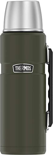(Thermos Stainless King 40 Ounce Beverage Bottle, Army Green)
