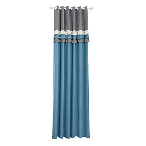 MidOr007 Cafe Curtain Rod Single Track/Roman Rod Curtain Lace Bedroom Imitation High Precision Shade Heat 100 x 260cm