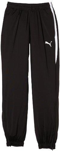 PUMA Kinder Hose Spirit Pants with Zipped Leg Opening, Black-White, 164, 654041 03