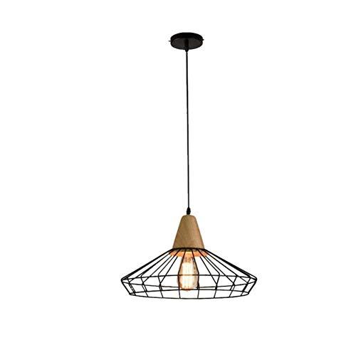 Lámpara de pared y lámpara colgante de madera E27 Lámpara colgante ...