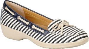 Softspots Women's Navy/Cream Stripe Ally 10 E US -