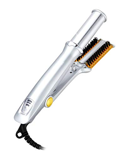 Professional 2in1 Curler Straightener, Wet To Dry Hot Rotating Iron Hair Brush, Hair Styling Salon by SAISZE (1)