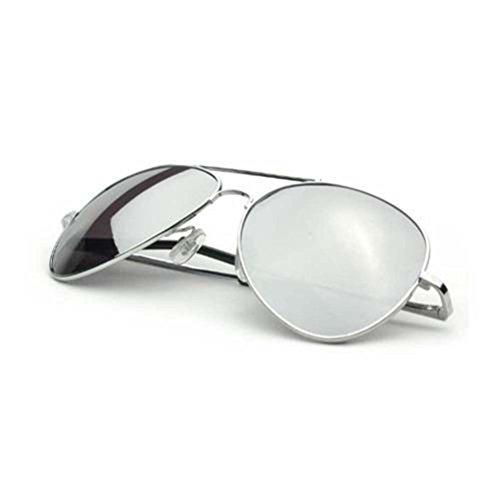 Aviator Chrome One Way Mirror Lens Sunglasses w/ Micro Fiber - Way One Mirror Glasses