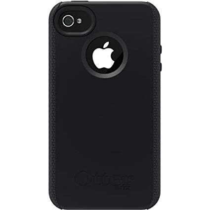 timeless design 9bc6b e33b0 Otterbox Impact Series Silicone Case for iPhone 4 & 4S - Retail Packaging -  Black (Discontinued by Manufacturer)