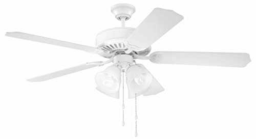 52' Builder Fan Collection - Craftmade K10632 Ceiling Fan Motor with Blades Included, 52