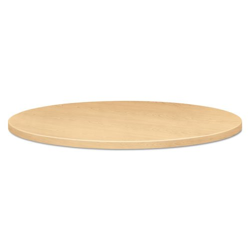 HON Round Table Top, Selfedge, 42-Inch Diameter, Natural Maple