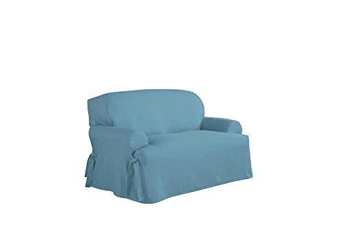 Duck Loveseat Slipcover (Serta Relaxed Fit Duck Furniture Slipcover for T-Love Seat, Indigo)