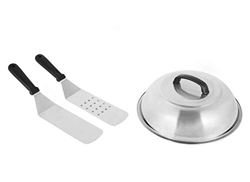 Broilmann 12inch Stainless Steel Lid with Hook +2 Shovels,12 Inch Round Basting...