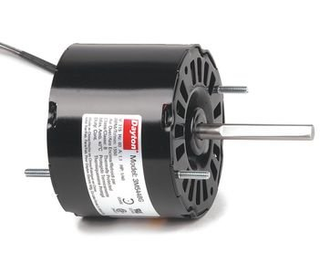 (Dayton 3M544 HVAC Motor, Shaded Pole, 1550 Nameplate RPM, 115V, Frame 3.3, 1/40 hp)