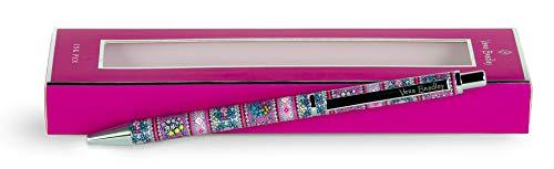 Vera Bradley Black Ink Ballpoint Pen, Accepts Standard Refills, Kaleidoscope
