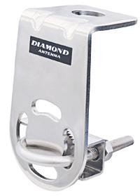 Diamond Antenna CRM Stainless Steel Right Angle Mirror and Luggage Rack Mount w/Ubolt